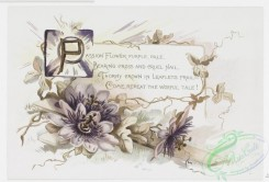 prang_cards_black-and-white-00404 - 0895-Christ is risen- Easter cards with text, depicting flowers, plants, butterflies, the sun and decorative ornamentation 108160