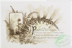 prang_cards_black-and-white-00405 - 0895-Christ is risen- Easter cards with text, depicting flowers, plants, butterflies, the sun and decorative ornamentation 108161