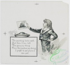 prang_cards_black-and-white-00412 - 0900-A Christmas plum pudding- cards depicting plum pudding, plums, pie, paintings, Jack Horner and holly 108204