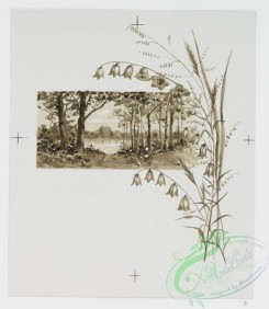 prang_cards_black-and-white-00447 - 0988-(The winds of the season , A Christmas morning, depicting branches, trees, berries, flowers, landscapes, rivers, huts, buildings, and winter.) 108532