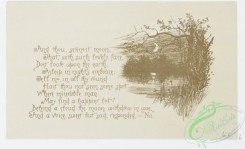 prang_cards_black-and-white-00453 - 0989-Winged Winds (text with illustrations of sunset over winter landscapes, with trees, birds, ocean, boats, moon.) 108542