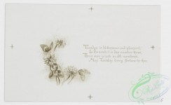 prang_cards_black-and-white-00479 - 1013-Kind wishes for each day- cards with text about the days of the week, depicting outdoor scenes, a fairy paddling a mushroom and leaf boat, children  100049