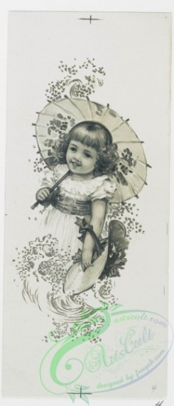 prang_cards_black-and-white-00508 - 1039-Mayflower, Easter Lilies, Bunch of Daffodils (Easter cards depicting flowers, Christmas cards depicting young girl with umbrella) 100137