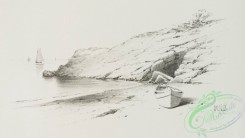 prang_cards_black-and-white-00567 - 1235-Pencil drawings 3 (depicting the beach, driftwood pile, boats and buildings) 100956