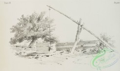 prang_cards_black-and-white-00571 - 1236-Pencil drawings 3 (depicting roads, chickens, houses, wells, barns, fields and gates) 100960