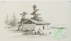 prang_cards_black-and-white-00573 - 1236-Pencil drawings 3 (depicting roads, chickens, houses, wells, barns, fields and gates) 100962