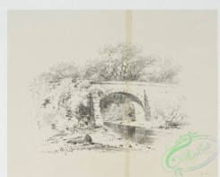 prang_cards_black-and-white-00609 - 1243-Landscape Drawing 3 (cards depicting roads, bridges, rivers, barrels, baskets, fences, houses, trees, chickens and wood) 108610
