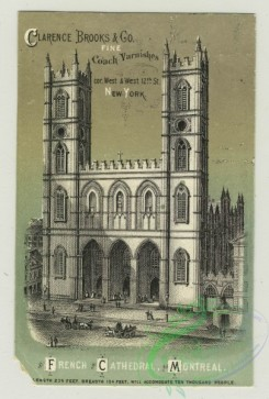 prang_cards_black-and-white-00643 - 1411-Trade cards depicting flowers, a butterfly, St. Patrick's Cathedral, French Cathedral in Montreal and Cathedral at Antwerp 101694
