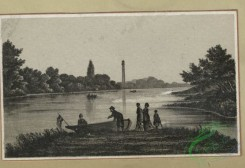 prang_cards_black-and-white-00665 - 1604-Trade cards depicting flowers, butterflies, a chocolate stand, a lake and boating 102575