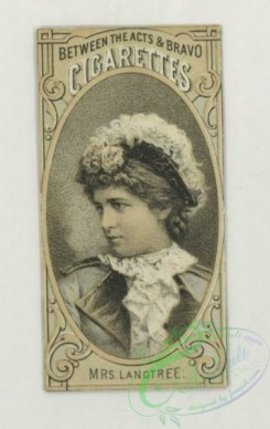 prang_cards_black-and-white-00701 - 1757-Trade cards depicting flowers, butterflies, a woman with a tambourine, views of a lake and forest , cigarette cards entitled 'between the acts and bravo 103504