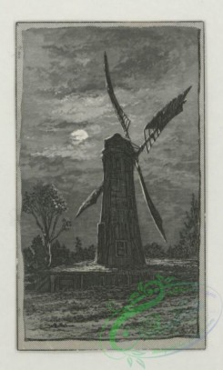 prang_cards_black-and-white-00724 - 1775-Trade cards depicting men, women, children, the seasons, a peacock, a road, a windmill, a sailboat, trees, a puppy, apple picking and a woman reading  103615