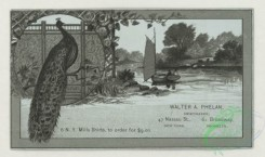 prang_cards_black-and-white-00725 - 1775-Trade cards depicting men, women, children, the seasons, a peacock, a road, a windmill, a sailboat, trees, a puppy, apple picking and a woman reading  103616