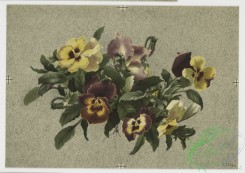 prang_cards_botanicals-00064 - 0524-Christmas and Easter cards depicting pansies and decorative design utilizing plant forms 106432