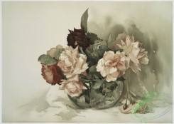prang_cards_botanicals-00074 - 0561-Red and pink roses in bowl 106638