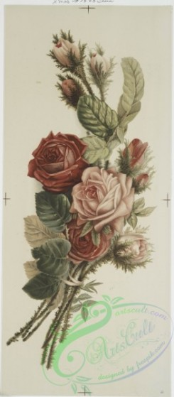 prang_cards_botanicals-00090 - 0615-Christmas cards depicting flower arrangements 106977