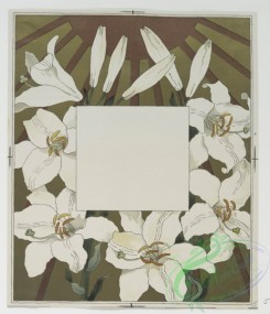 prang_cards_botanicals-00136 - 0695-Cards depicting flowers, stars, sun and moon 107315