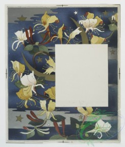 prang_cards_botanicals-00137 - 0695-Cards depicting flowers, stars, sun and moon 107316