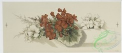 prang_cards_botanicals-00139 - 0716-Christmas cards depicting flowers, leaves, butterflies, paper, and seal with man's profile 107463