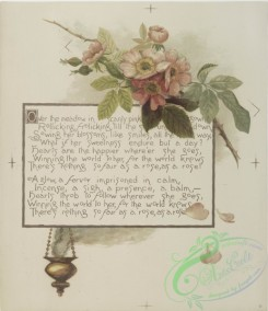prang_cards_botanicals-00164 - 0856-Flower fancies-calendar with text, depicting flowers and an incense burner 108046