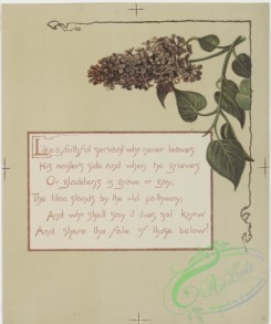 prang_cards_botanicals-00170 - 0859-Flower fancies-calendar with text, depicting lilacs 108054