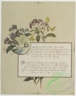 prang_cards_botanicals-00173 - 0861-Flower fancies-calendar with text, depicting flowers including forget-me-nots 108064