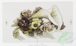 prang_cards_botanicals-00218 - 0952-Easter cards depicting Calla Lily and England Violets, Calla Lily and Pansies 108366