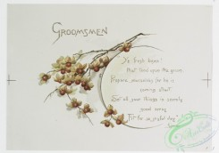 prang_cards_botanicals-00247 - 1078-Wedding Bells-Groomsmen, Newspaper Cuttings, Parents of Bridegroom (text by Spenser, Scott, and Joaquin Miller, with illustrations of flowers) 100303
