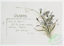 prang_cards_botanicals-00250 - 1081-Wedding Bells-Ushers, Guests, Old Schoolmates (text by Ben Johnson, Shakespeare, Burns, with illustrations of flowers) 100315