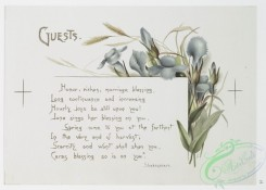 prang_cards_botanicals-00251 - 1081-Wedding Bells-Ushers, Guests, Old Schoolmates (text by Ben Johnson, Shakespeare, Burns, with illustrations of flowers) 100316