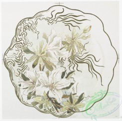 prang_cards_botanicals-00271 - 1160-China painting 3 (depicting yellow and white flowers.) 100575