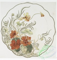 prang_cards_botanicals-00274 - 1162-China painting 3 (depicting red, pink and yellow flowers.) 100578