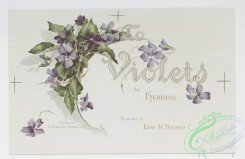prang_cards_botanicals-00306 - 1218-To violets (cards with text and depictions of flowers) 100864