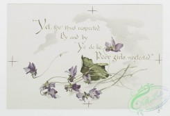 prang_cards_botanicals-00308 - 1218-To violets (cards with text and depictions of flowers) 100866