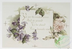 prang_cards_botanicals-00309 - 1219-To violets (cards with text and depictions of flowers) 100867