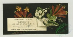prang_cards_botanicals-00314 - 1284-Trade cards and calendars with New Year and Christmas greetings, depicting flowers, spools of thread, sewing, a pulley, women and children 101069