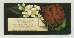 prang_cards_botanicals-00316 - 1284-Trade cards and calendars with New Year and Christmas greetings, depicting flowers, spools of thread, sewing, a pulley, women and children 101071