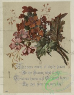 prang_cards_botanicals-00354 - 1601-Christmas and trade cards depicting butterflies, flowers, plants, a rock and a fly 102562