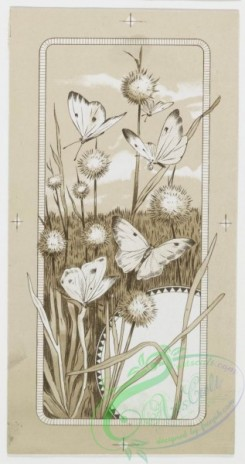 prang_cards_butterflies-00003 - 0196-Easter cards depicting flowers, crosses, and fields with butterflies 103953