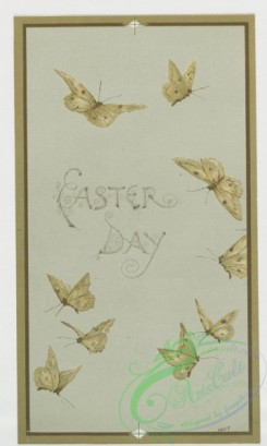 prang_cards_butterflies-00020 - 0419-Easter cards depicting birds and butterflies on tree branches 105684
