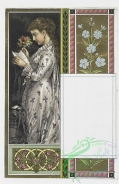 prang_cards_holidays-00004 - 0024-Valentines depicting women with flowers 104321