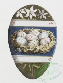 prang_cards_holidays-00041 - 0126-Easter cards-egg-shaped depicting eggs, and flowers 101029