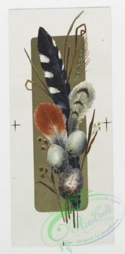 prang_cards_holidays-00047 - 0141-Easter cards depicting chicks, birds, feathers and an ornamental plant design 101717