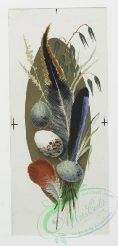 prang_cards_holidays-00049 - 0141-Easter cards depicting chicks, birds, feathers and an ornamental plant design 101719