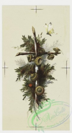 prang_cards_holidays-00055 - 0191-Christmas and Easter cards depicting mallard ducks, crosses, a decorative pattern and botanical illustrations 103910