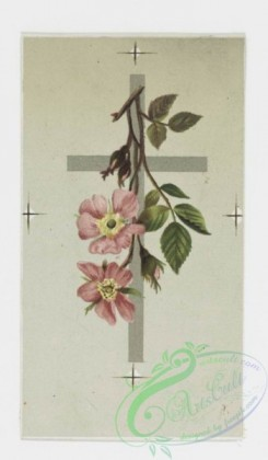 prang_cards_holidays-00059 - 0195-Easter cards depicting flowers on crosses, trees with birds 103936