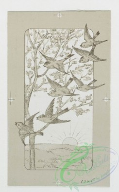 prang_cards_holidays-00069 - 0195-Easter cards depicting flowers on crosses, trees with birds 103946