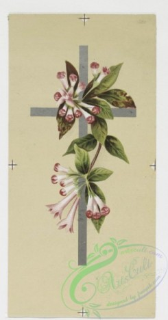 prang_cards_holidays-00070 - 0196-Easter cards depicting flowers, crosses, and fields with butterflies 103947