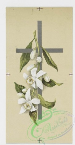 prang_cards_holidays-00071 - 0196-Easter cards depicting flowers, crosses, and fields with butterflies 103948