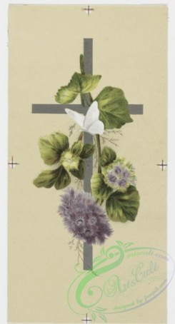 prang_cards_holidays-00074 - 0196-Easter cards depicting flowers, crosses, and fields with butterflies 103951