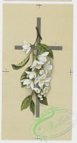 prang_cards_holidays-00075 - 0196-Easter cards depicting flowers, crosses, and fields with butterflies 103952